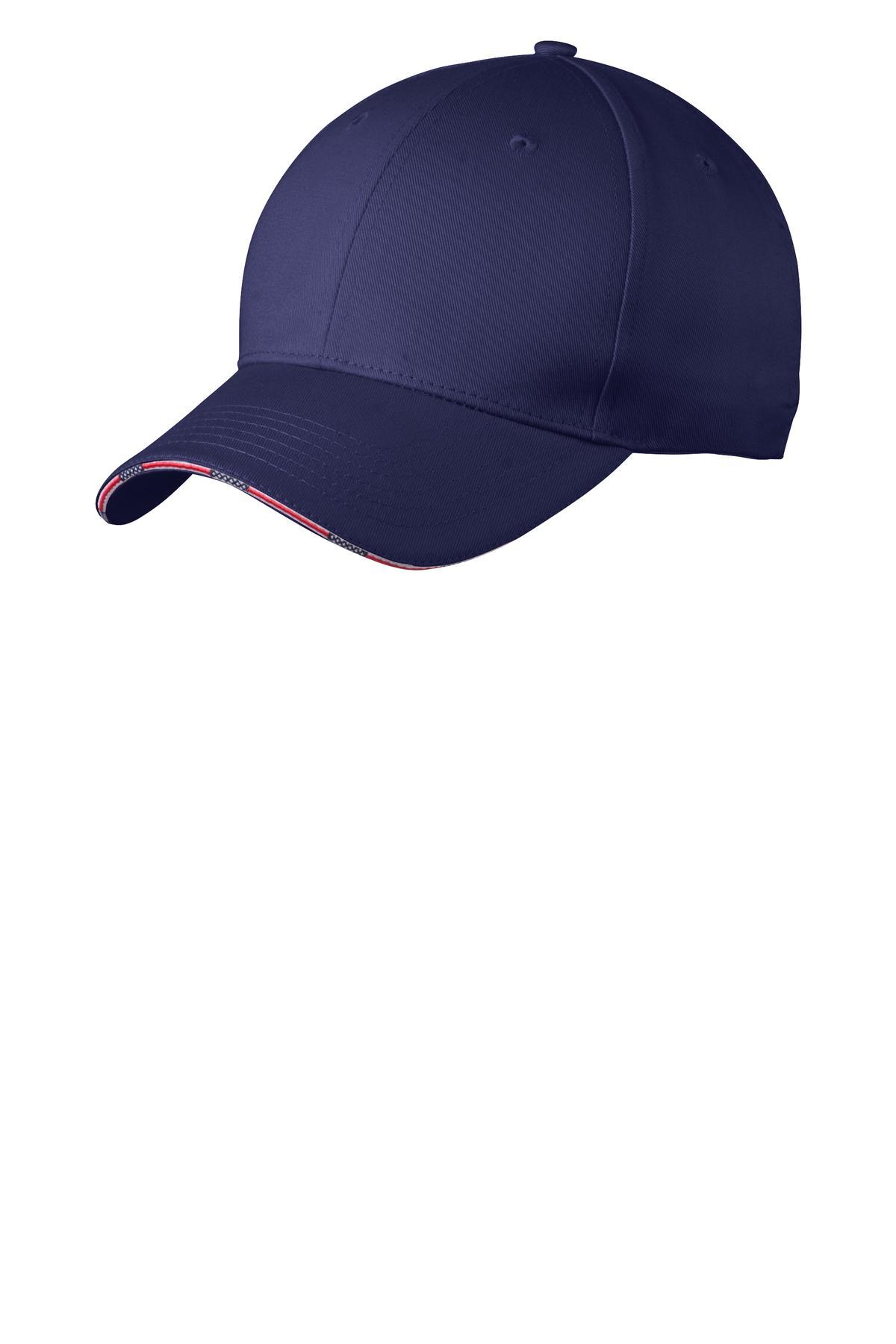 337b6a4aa92 Port Authority ® Americana Flag Sandwich Cap. C829 - Custom Shirt Shop