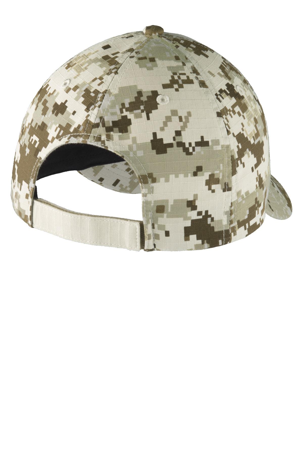 Port Authority?C926 Colorblock Digital Ripstop Camouflage Cap