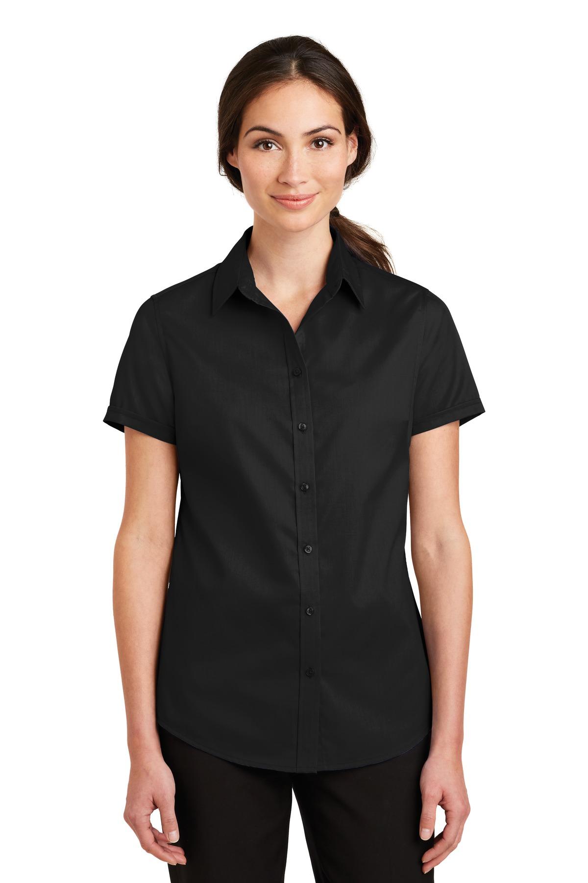 9f7d0ba20 ... Port Authority ® Ladies Short Sleeve SuperPro ™ Twill Shirt. L664.  Previous; Next