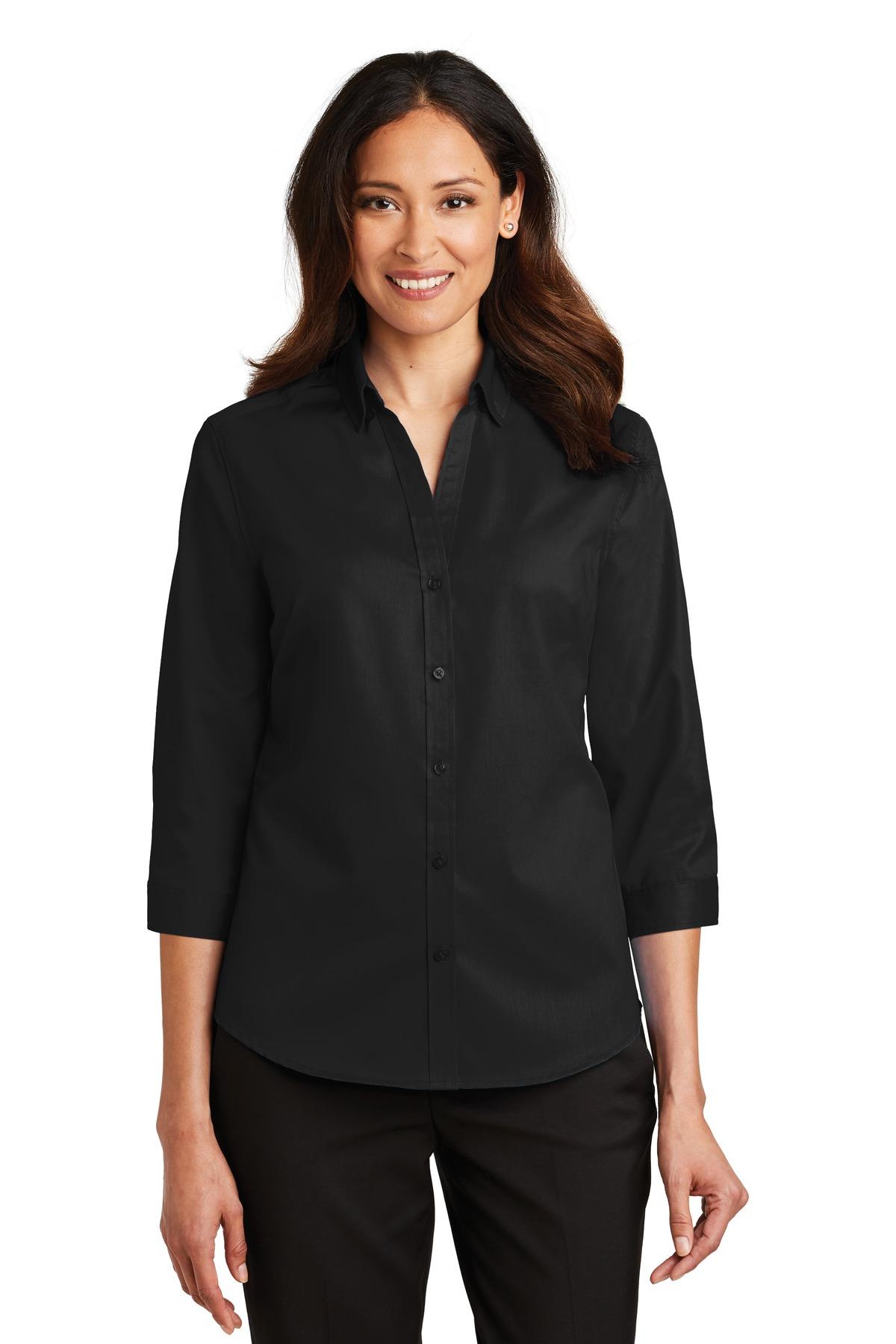 2bc1d36dd ... Port Authority ® Ladies 3/4-Sleeve SuperPro ™ Twill Shirt. L665.  Previous; Next