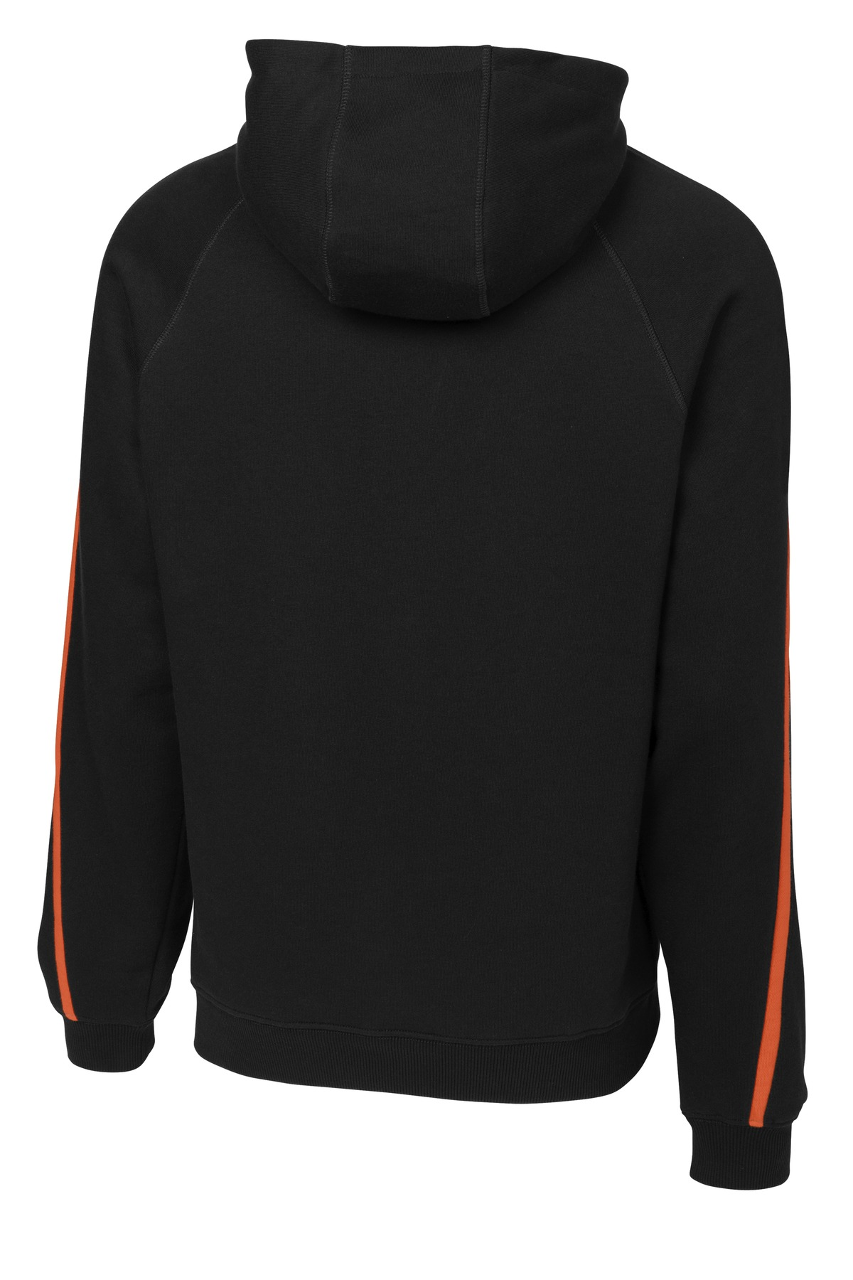 Sport-Tek Sleeve Stripe Pullover Hooded SweatshirtXL Vintage Heather//Black