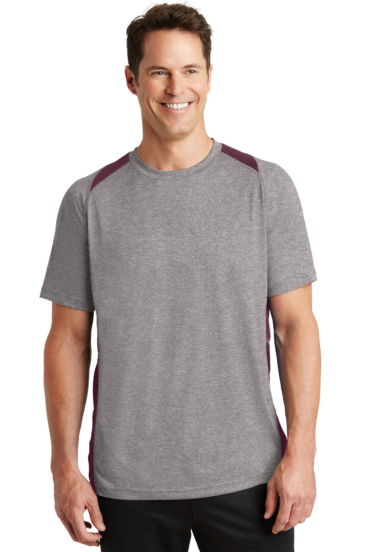 5ef8664f Sport-Tek ® Heather Colorblock Contender ™ Tee. ST361 - Custom Shirt ...
