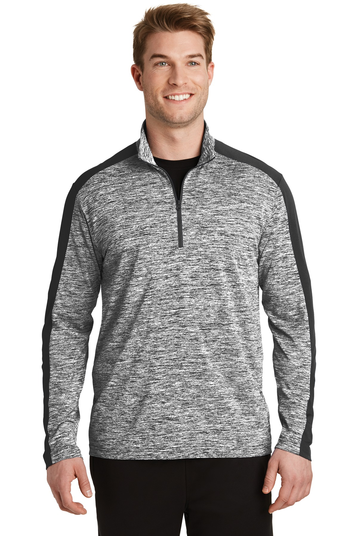 Sport Tek Posicharge Electric Heather Colorblock 1 4 Zip Pullover St397 Custom Shirt Shop Posicharge technology helps colors and logos stay vibrant longer. sport tek posicharge electric