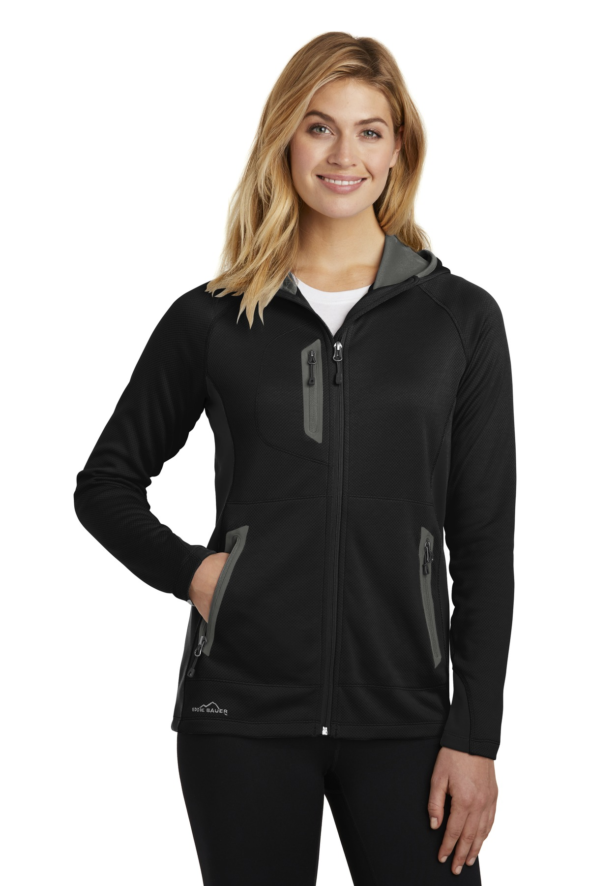 01f4c9da3d0 ... Eddie Bauer ® Ladies Sport Hooded Full-Zip Fleece Jacket. EB245.  Previous  Next